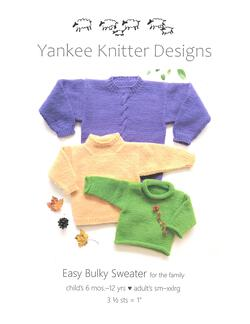 Easy Bulky Sweater - Yankee Knitter  - Pattern download