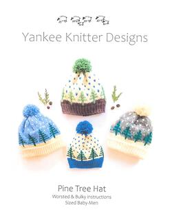 Pine Tree Hat  Yankee Knitter