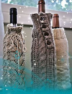 CLEARANCE Fiber Trends - Wine Bottle Cozies