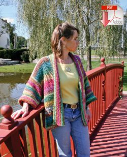 Basic Garter Stitch Kimono  Pattern Download