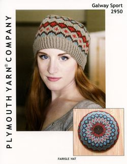 Knitting patterns Fairisle Hat Sport Weight by Plymouth