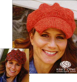 CLEARANCE Newsie Cap Knit or Crochet