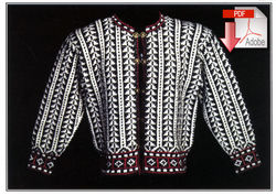 Traditional Albanian Cardigan  Pattern download Harrisville Designs