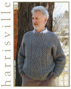 Braid and Lattice Pullover Harrisville Designs