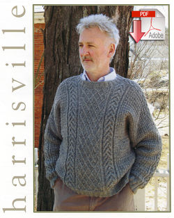 Braid and Lattice Pullover - Pattern download Harrisville Designs