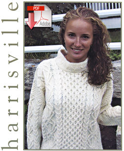 Aran Pullover  Pattern download Harrisville Designs