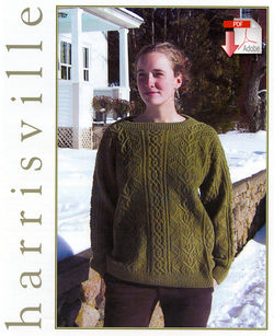 Leaf and Lattice Sweater  Pattern download Harrisville Designs
