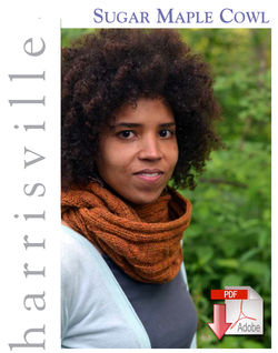 Sugar Maple Cowl  Pattern download Harrisville Designs