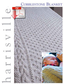 Cobblestone Blanket  Pattern download Harrisville Designs