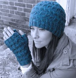 Surry Hat and Mitts - Watershed Pattern Harrisville Designs