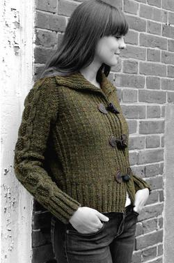 Henniker Toggle Jacket - Watershed Pattern Harrisville Designs