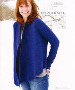 Knitting patterns Fitzgerald Cardigan - Flywheel Pattern Harrisville Designs
