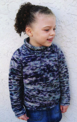 Children's Bulky Top Down Pullover by Knitting Pure & Simple