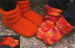 Children's Mukluk Slippers by Knitting Pure & Simple