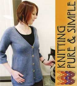 Neck Down Swing Cardigan By Knitting Pure and Simple