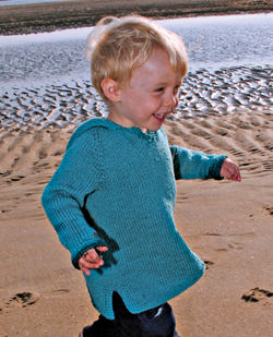 Neck Down Children's Hooded Tunic by Knitting Pure & Simple
