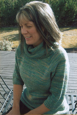 Neck Down Cowl Collar Pullover by Knitting Pure & Simple