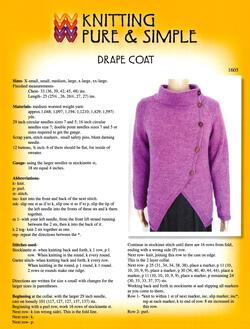 Drape Coat by Knitting Pure and Simple