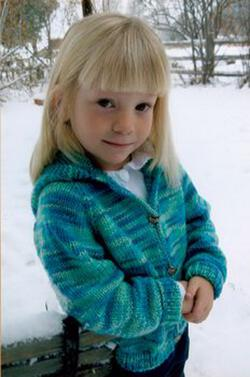 Childrenaposs Neck Down Cardigan by Knitting Pure and Simple