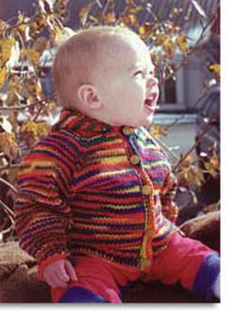 Baby Neck Down Cardigan by Knitting Pure and Simple