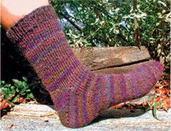 Basic Toe-Up Sock 6 st/1""