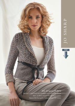 Jo Sharp Origami Bolero Pattern  Pattern Download