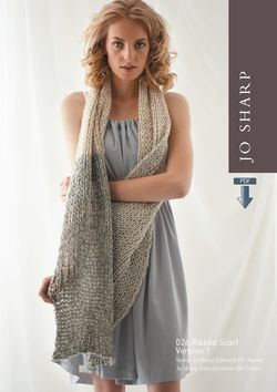 Jo Sharp Ribbed Scarf Pattern - Pattern Download