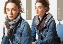 Jo Sharp Two Tone Moss Cowl Pattern  Pattern Download
