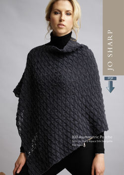 Jo Sharp Asymmetric Poncho Pattern  Pattern Download
