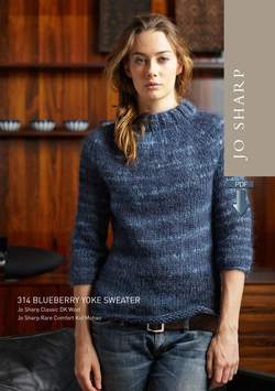 Jo Sharp Blueberry Yoke Sweater Pattern - Pattern Download
