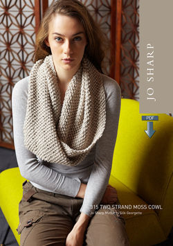 Jo Sharp Two Strand Moss Cowl Pattern  Pattern Download
