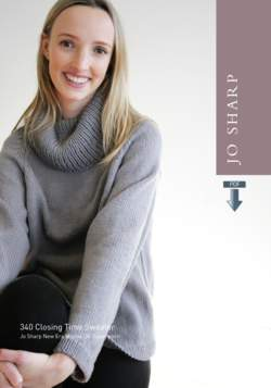 Jo Sharp Closing Time Sweater Pattern  Pattern Download