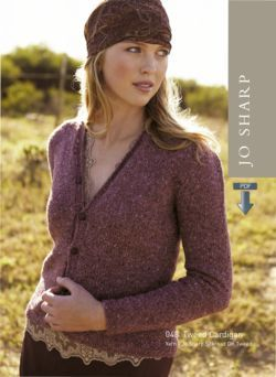 Jo Sharp Tweed Cardigan Pattern - Pattern Download