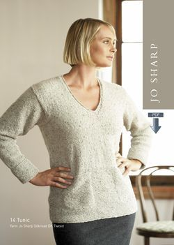Jo Sharp Tunic and Chequer Scarf Pattern  Pattern Download