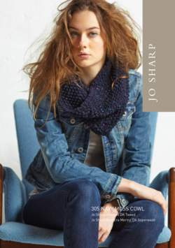 Jo Sharp Navy Moss Cowl Pattern