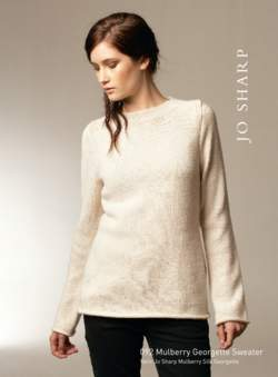 Jo Sharp Mulberry Silk Georgette Sweater Pattern