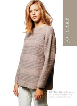 Jo Sharp Moss Stitch Sweater Pattern