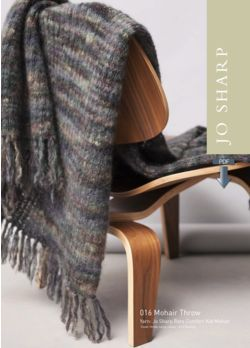 Jo Sharp Mohair Throw and Alpaca Throw Pattern - Pattern Download