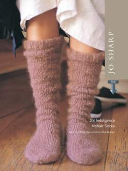 Jo Sharp Indulgence Mohair Sock - Pattern Download