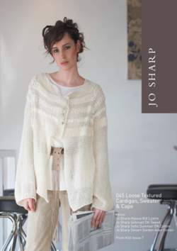 Jo Sharp Loose Textured Cape Cardigan and Sweater Pattern