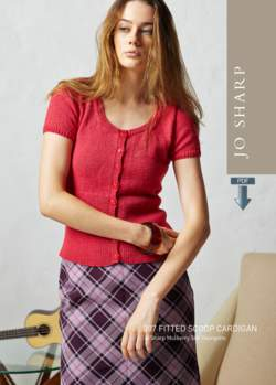 Jo Sharp Fitted Scoop Cardigan - Pattern Download