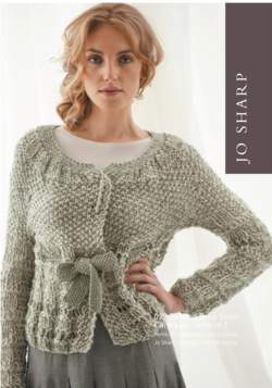 Jo Sharp Drop Stitch Vest and Cardigan Pattern
