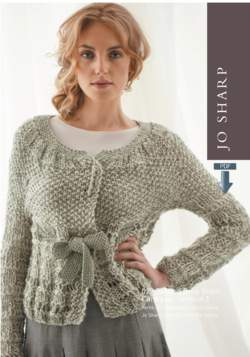 Jo Sharp Drop Stitch Vest and Cardigan  Pattern Download