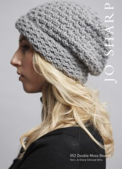 Jo Sharp Double Moss and Twisted Rib Beanies - Pattern