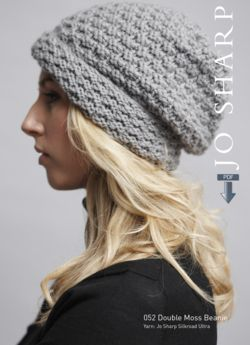 Jo Sharp Double Moss and Twisted Rib Beanies - Pattern Download