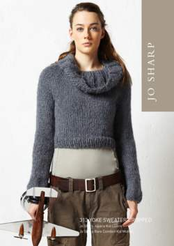 Jo Sharp Cropped Yoke Cowl Sweater Pattern