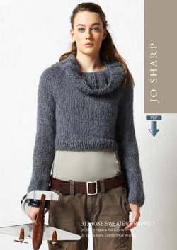 Jo Sharp Cropped Yoke Cowl Sweater  Pattern Download