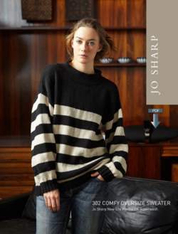 Jo Sharp Comfy Oversize Sweater - Pattern Download