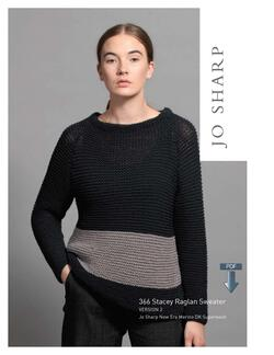 Jo Sharp Stacey Raglan Sweater  Pattern Download