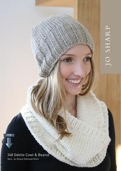 Jo Sharp Odette Cowl and Beanie  Pattern Download